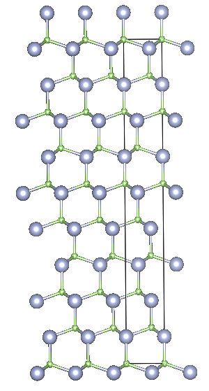 Depiction of Gallium Nitride in the form of 9R from the side