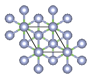 Depiction of Gallium Nitride in the form of 9R from the [001] direction