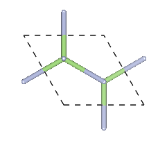 Depiction of Gallium Nitride in the form of 2H