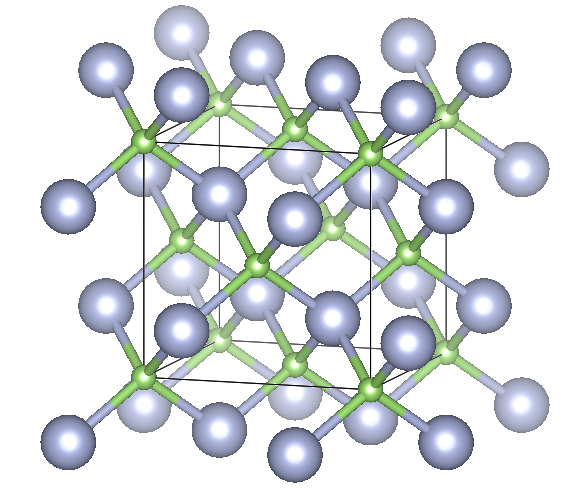 Depiction of Gallium Nitride in the form of 3C or sphalerite or zincblende