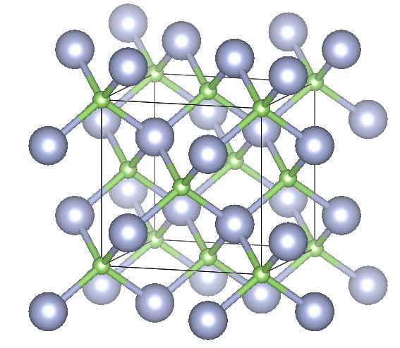 Depiction of Gallium Nitride in the form of 3C or sphalerite or zincblende