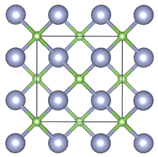Depiction of Gallium Nitride in the form of 3C in the [100] direction