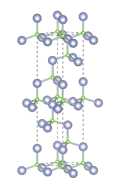 Depiction of Gallium Nitride in the form of 6H