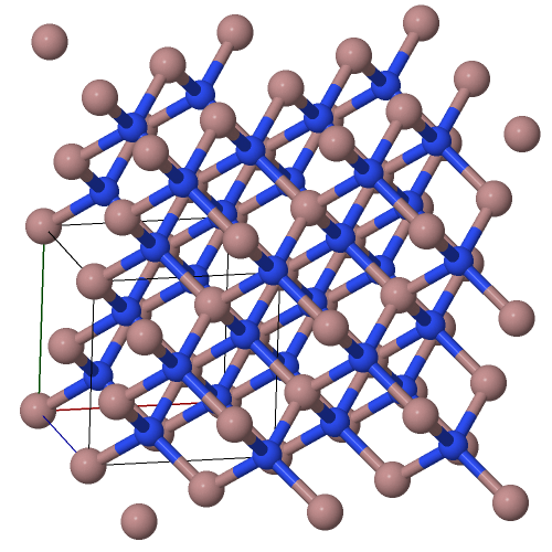 Zincblende crystal structure