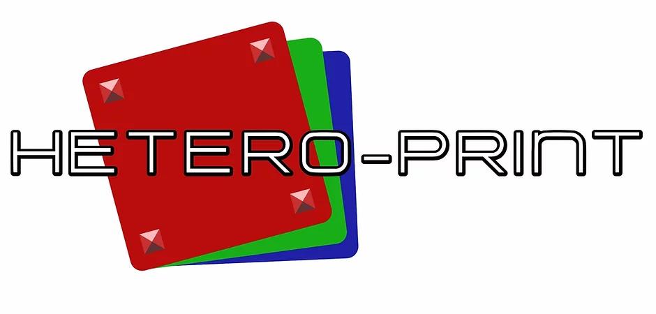 Hetero-print logo